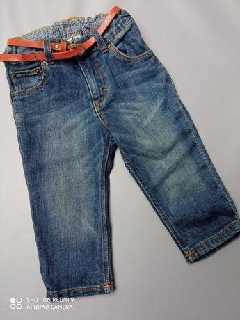 Jeansy z paskiem hm 80