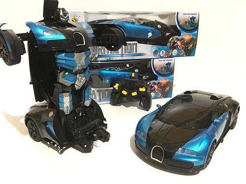 Машинка трансформер на радиоуправлении Bugatti Robot Car