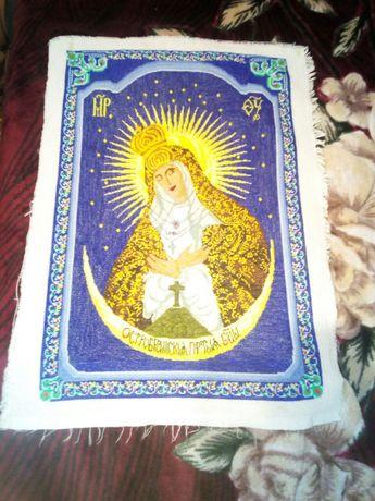 Икона остробрамска пресвятая богородица/ручная работа