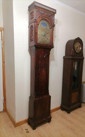 Zegar stojący Angielski MAHOŃ Matthew Worgan Antyk Okazja! 1775R