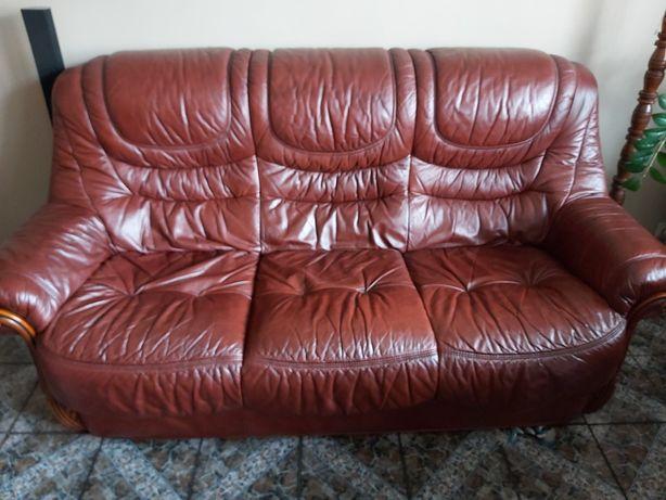 Kanapa skórzana + fotel