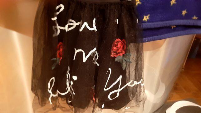 Spódnica tiulowa MOHITO cekiny róża  roz.32
