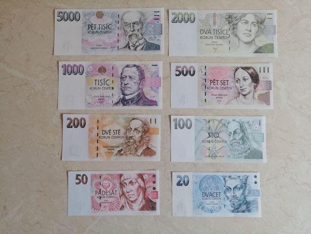 Zestaw banknotów Czechy, Finlandia, Estonia