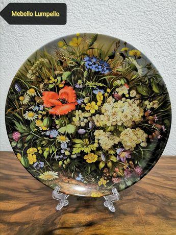 Kolekcjonerski talerz kwiaty FURSTENBERG