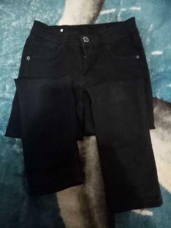 чёрные джинсы штаны женские подростковые размер xs s zara bershka h&m