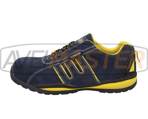 Sapato de segurança pele Amarelo Comp. S1P A3005