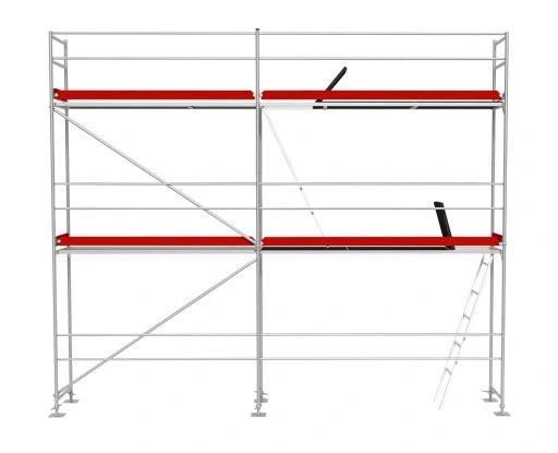 Nowe Aluminiowe Rusztowanie Elewacyjne / Fasadowe 36 m2 - T. Plettac