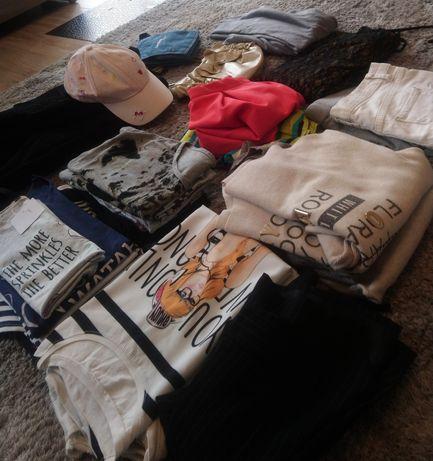 MEGA PAKA 23 rzeczy ubrania damskie M 38 bluzki koszulki sweterki nowe