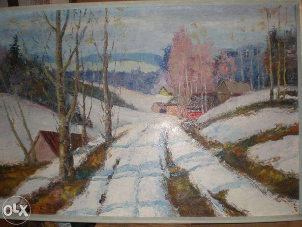 "Картина - ""Зимняя дорога"" (Winter road)"