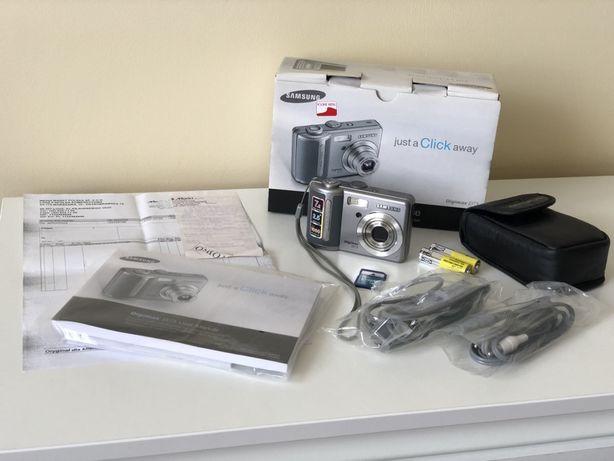 Samsung Digimax D73 Aparat fotograficzny cyfrowy cały zestaw
