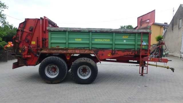 Rozrzutnik rozsiewacz obornika wapna HAWE 12 ton talerzowy