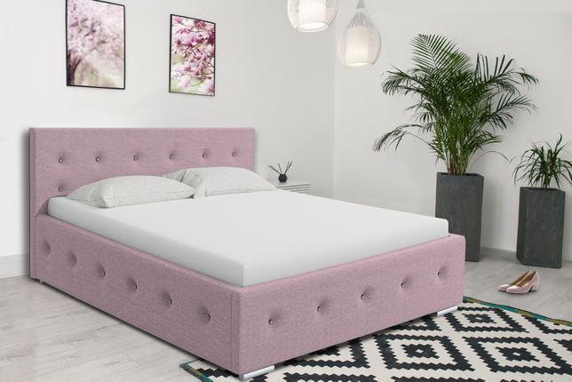Łóżko Tapicerowane stelaż+pojemnik 160x200 Moli, łóżko sypialniane PRO