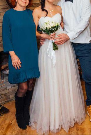Очень красивое свадебное платье! Нежное выпускное вечернее платье