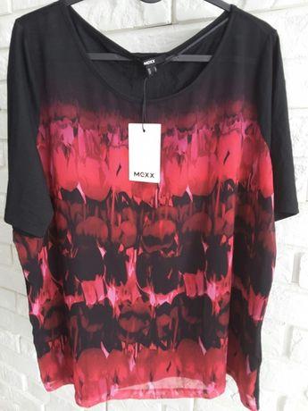 NOWA MEXX bluzka koszulka czarny różowy czerwony z metką