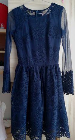 Granatowa sukienka/rozmiar 36