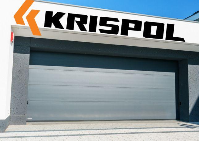Brama garażowa segmentowa Krispol Bramy segmentowe MONTAŻ CAŁA POLSKA