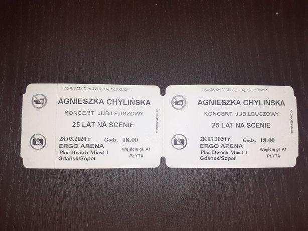2 bilety na koncert Agnieszki Chylińskiej Gdańsk