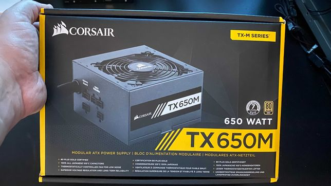 Vendo Fonte Corsair TX650M 80 Gold Plus