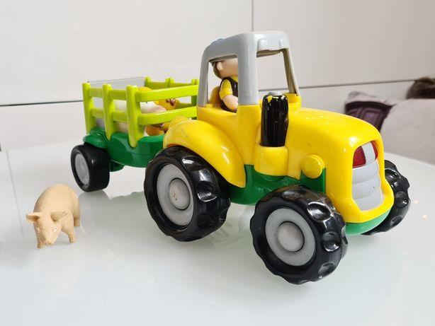 SMIKI traktor z przyczepą i zwierzątkami. Dźwięki światła