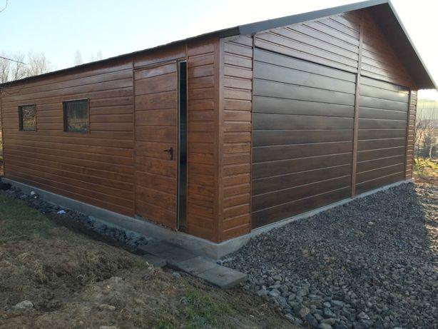 Garaż blaszany,blaszak drewnopodobny wymiary 7x7