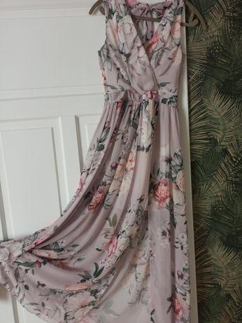 Sukienka damska w duze kwiaty
