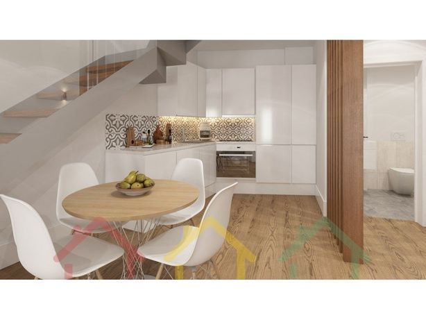 Apartamento T2 com varanda e terraço no Cais de Gaia
