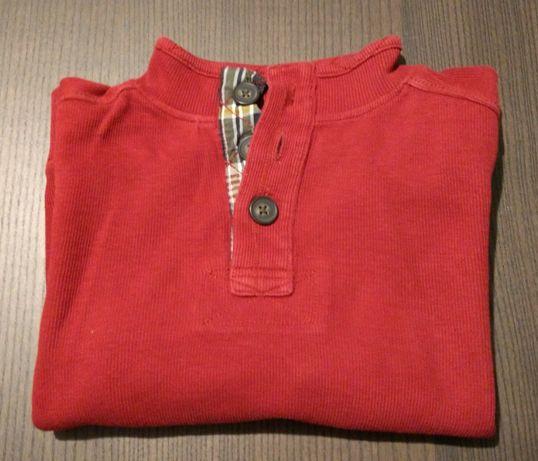 Sweterek chłopięcy bluza z trzema guzikami elegancka r. 128/134