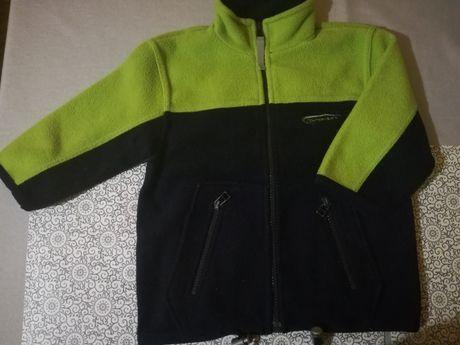 Bluza, polar h&m 92 granatowo zielony