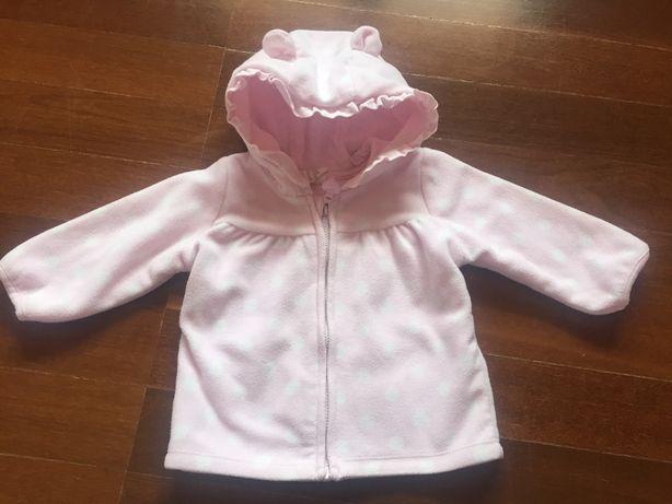 casaco rosa da H&M, tamanho 68 cm