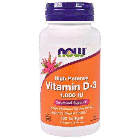 Now Foods, витамин D3, высокоактивный, 25 мкг (1000 МЕ)