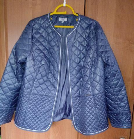 Granatowa kurtka pikowana, r. XL