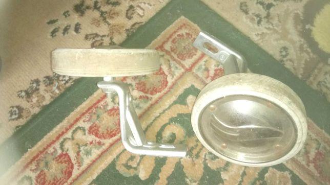 Kółka boczne do rowerka - srebrne -