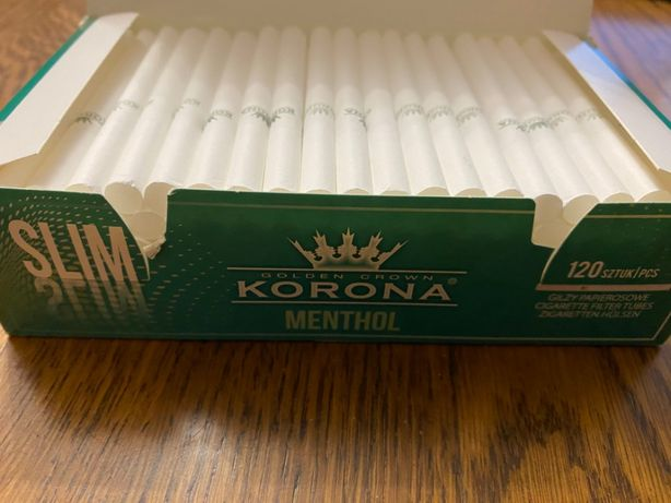 Гильзы для сигарет, гильзы для табака, сигаретные гильзи МЕНТОЛ 120