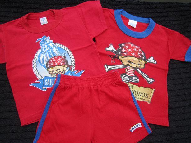 Zestaw Rodos dla chłopca w rozmiarze 86/92 szorty, spodenki, koszulki