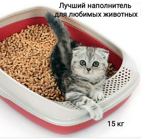 Наполнитель древесный для животных 15 кг