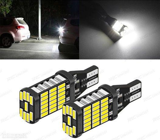 2 LÂMPADAS LED T15 W16W LUZ BRANCA