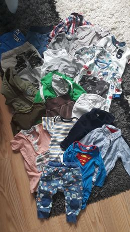 Mega paka ubrań dla chłopca 74-80