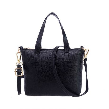Bolsa em pele sintética preta de mão ou tiracolo Nova e embalada