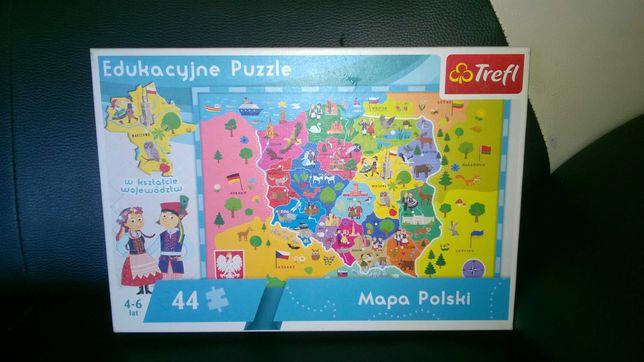 Puzzle edukacyjne dla dzieci Mapa Polski Trefl