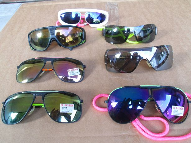 Sprzedam 7 par okularów przeciwsłonecznych - różne wzory