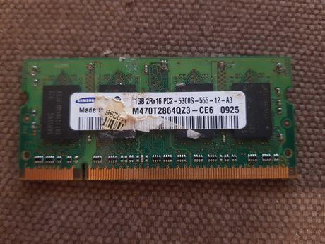 Память для ноутбука SODIMM DDR2 1GB 667 MHz Samsung M470T2864QZ3-CE6
