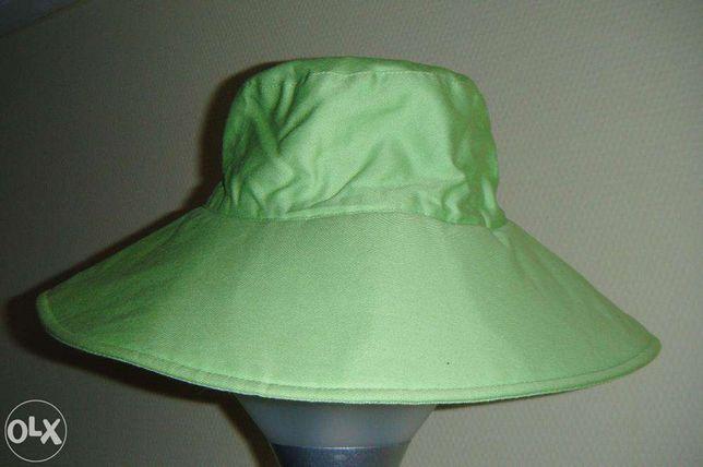 Zielony kapelusz na wiosnę/ lato, 100% bawełna - GALERIA CENTRUM