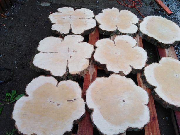 Plastry drewna grabu śr48-40 gr 5,5 cm