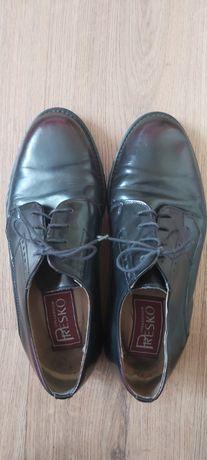 Solidne szyte buty skórzane męskie rozmiar 40