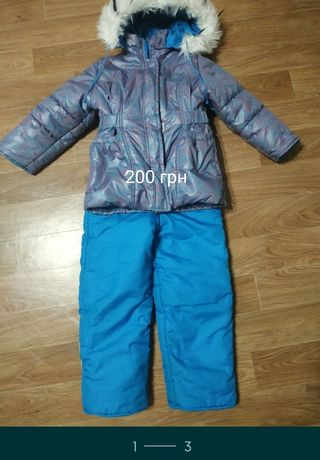 Зимняя курточка и комбинезон на 4-6 лет