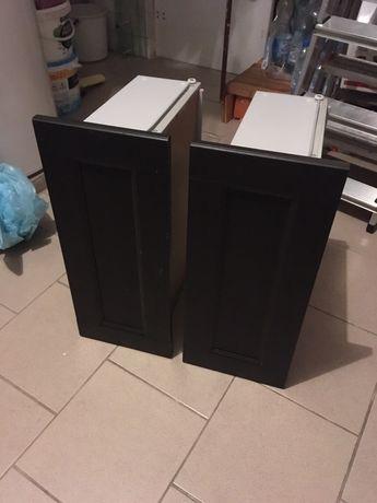 Dwie szuflady besta niskie ciemny brąz