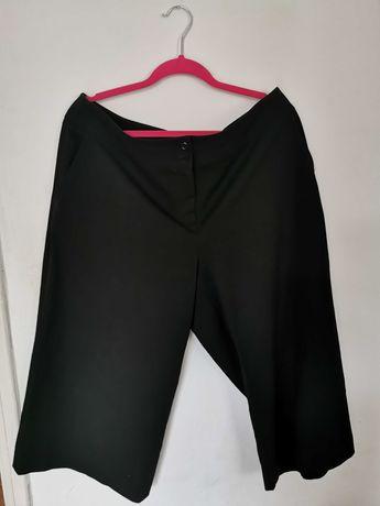 Czarne szerokie spodnie 3/4, rozmiar XL