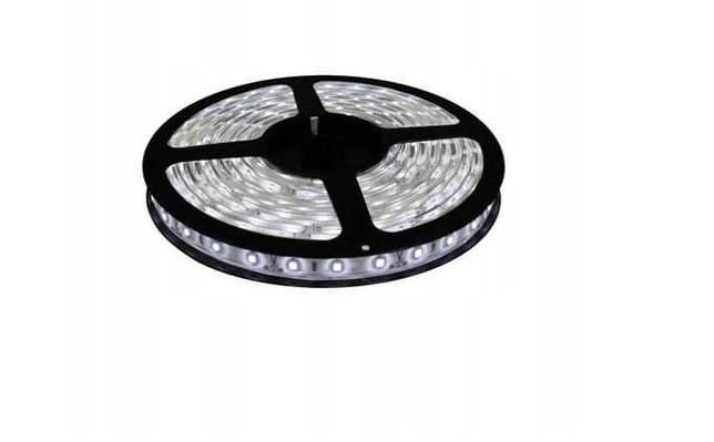 Nowa Taśma LED Wodoodporna 5050 Biała Zimna Zestaw