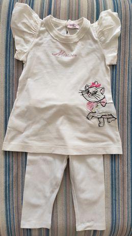 Комплект футболка лосины Monnalisa 2-3 года