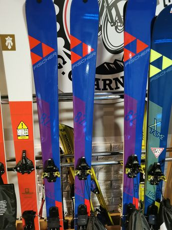 Narty skiturowe FISCHER 163cm + foki + wiązania
